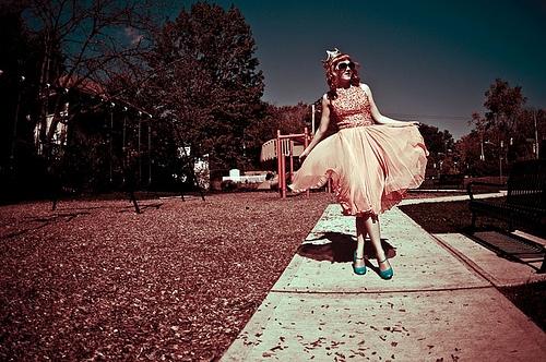 Sidewalk girl